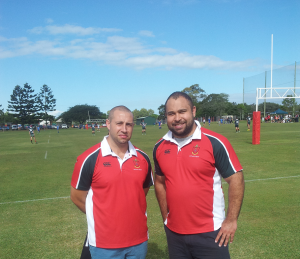 St Pauls Middle school coaching with Iconz coaches Andrew Curtain (Left) and Manuel Cole-Manolis (Right)